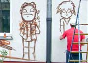граффити в берлине, graffiti, Berlin, gangway
